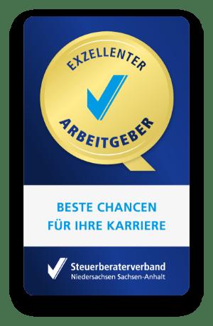 Auszeichnung als exzellenter Arbeitgebern vom Steuerberaterverband Niedersachsen und Sachsen Anhalt.